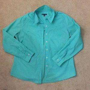GAP Spring Green Button Down Shirt, L, EUC